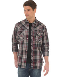 Wrangler Rock 47 Men's Plaid Embroidered Long Sleeve Snap Shirt - Big & Tall, , hi-res