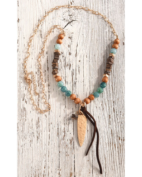 Shyanne Women's Amazonite Beaded Necklace, Multi, hi-res