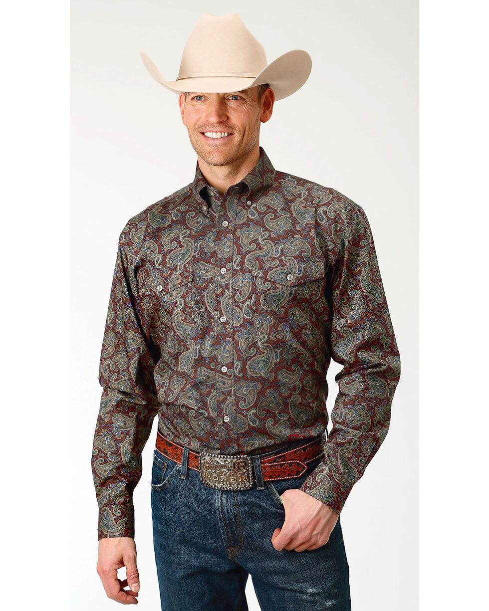 Roper Men's Paisley Print Long Sleeve Button Down Shirt, Multi, hi-res