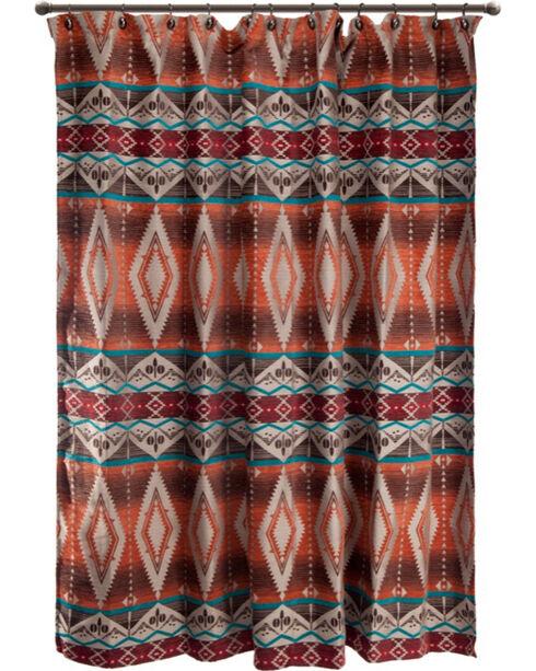 Carstens Mojave Sunset Shower Curtain, Orange, hi-res