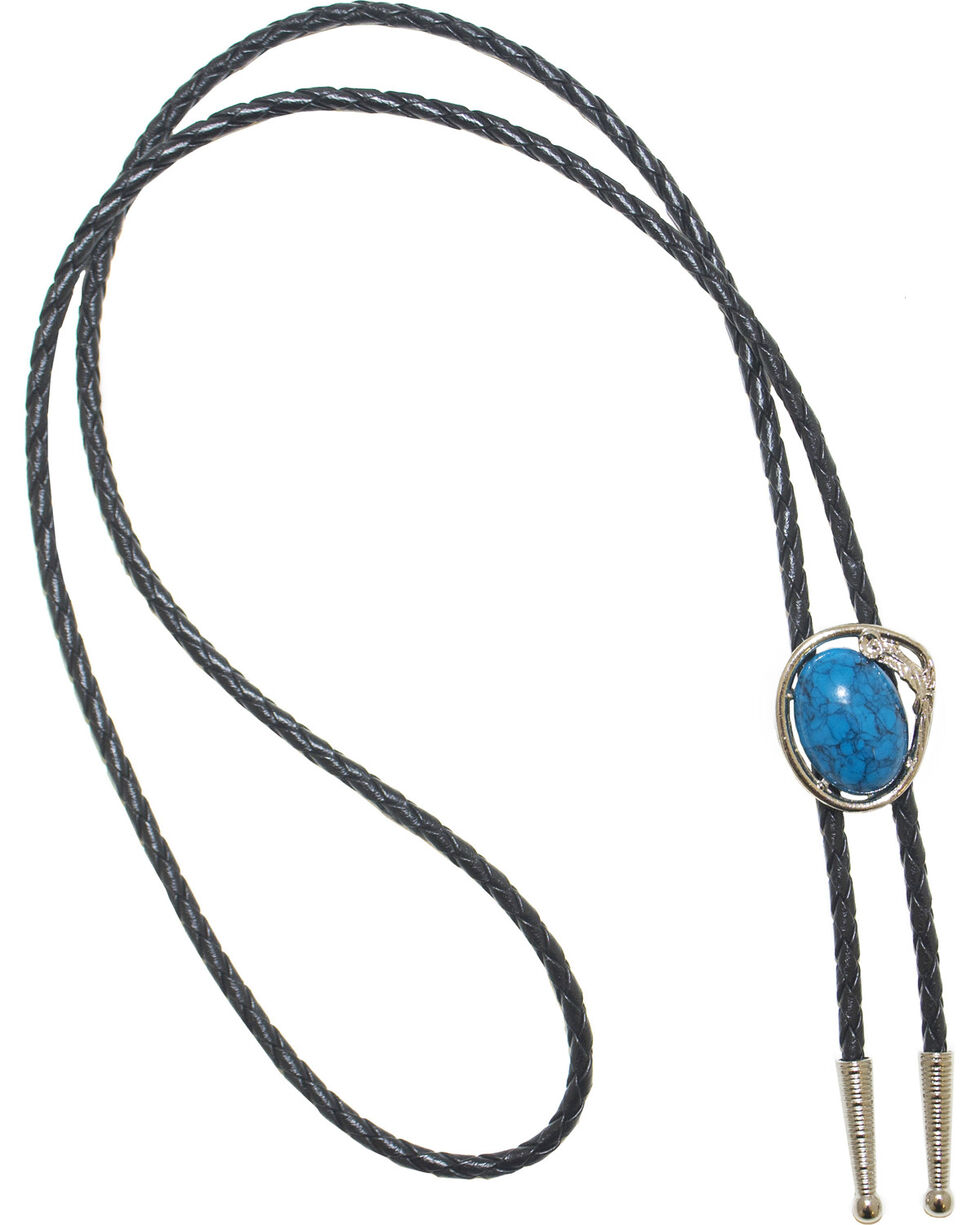 Western Express Men's Turquoise Bolo Tie, Turquoise, hi-res