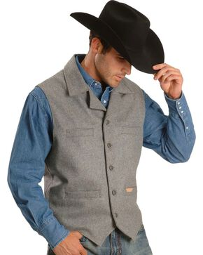Powder River Outfitters Montana Wool-blend Vest, Grey, hi-res