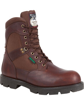 Georgia Men's Homeland Waterproof  Work Boots, Brown, hi-res