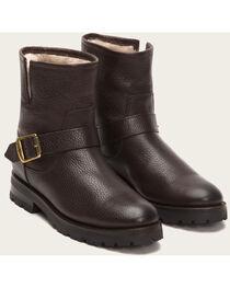 Frye Women's Natalie Short Engineer Lug Shearling Boots, , hi-res
