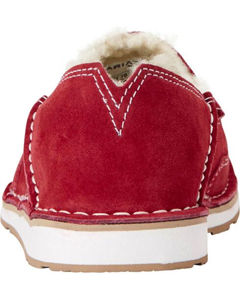 Ariat Women's Red Fleece Cruiser Shoes - Moc Toe, Red, hi-res