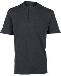 American Worker Men's Short Sleeve Henley, , hi-res
