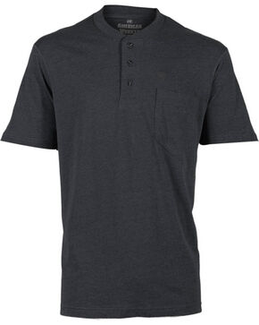 American Worker Men's Short Sleeve Henley, Black, hi-res
