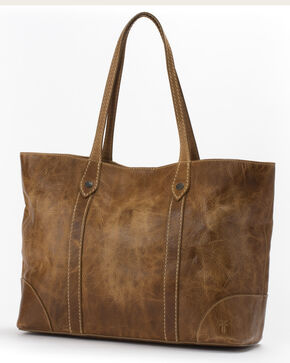 Frye Women's Melissa Leather Shopper Bag , Beige/khaki, hi-res