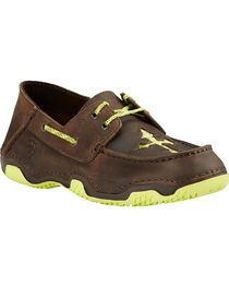 Ariat Women's Brown Caldwell Cross Boat Shoes, , hi-res