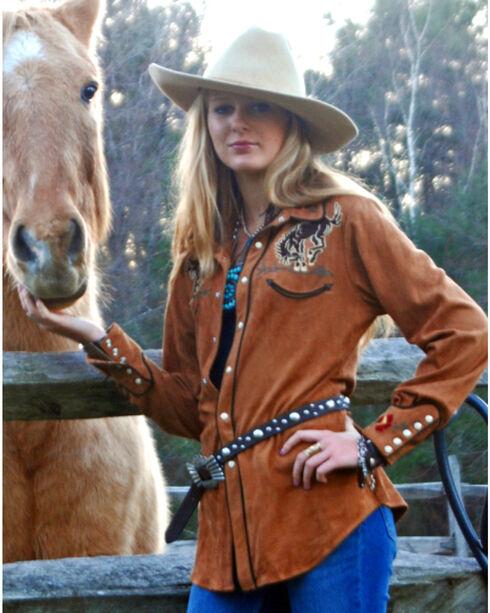 Tasha Polizzi Women's Bronco Shirt, Camel, hi-res