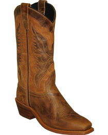 "Sage by Abilene Men's 12"" Eagle Underlay Western Boots - Square Toe, , hi-res"