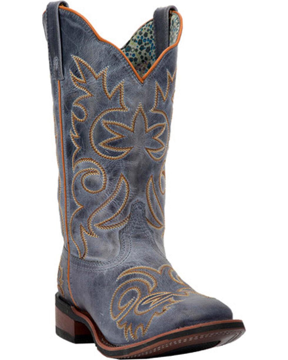 Laredo Women's Ella Vintage Navy Stockman Boots - Square Toe, Navy, hi-res