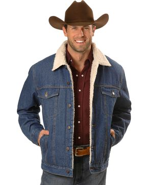 N40 Gear Sherpa-Lined Denim Jacket, Denim, hi-res