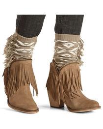 Shyanne Women's Fringe Trimmed Boot Toppers, , hi-res