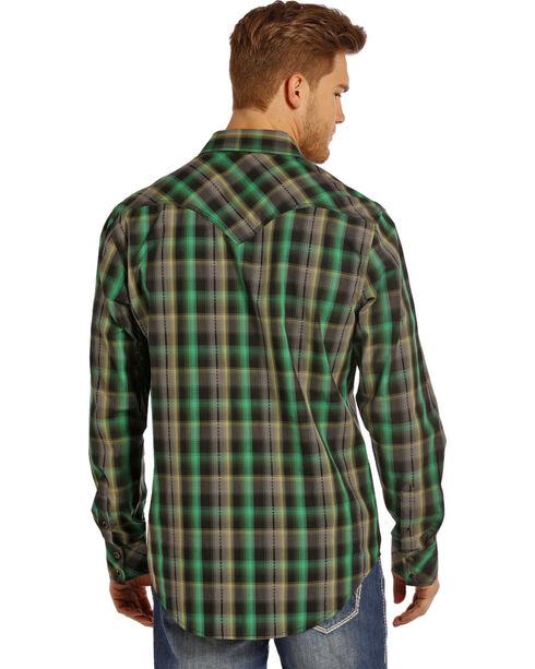 Rock & Roll Cowboy Men's Plaid Patterned Long Sleeve Shirt, Multi, hi-res