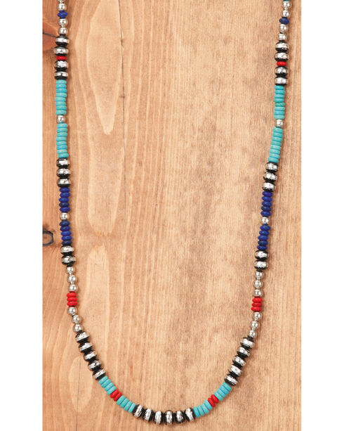 West & Co. Women's Blocked Rondell Beaded Single Strand Necklace, Multi, hi-res