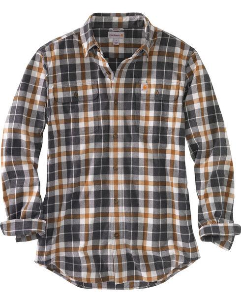 Carhartt Men's Hubbard Plaid Shirt , Slate, hi-res