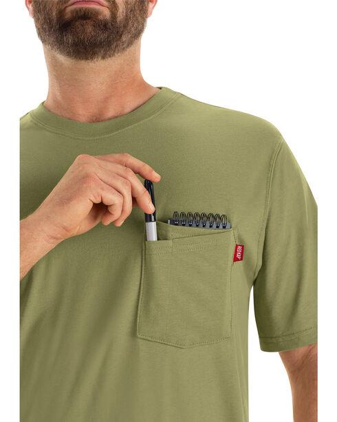 Red Kap Men's Moss Green Solid T-Shirt , Moss, hi-res