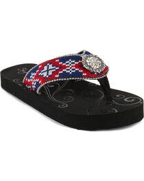 Shyanne® Women's Aztec Concho Sandals, , hi-res