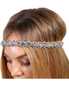 Shyanne® Women's Rhinestone Studded Headband, Tan, hi-res