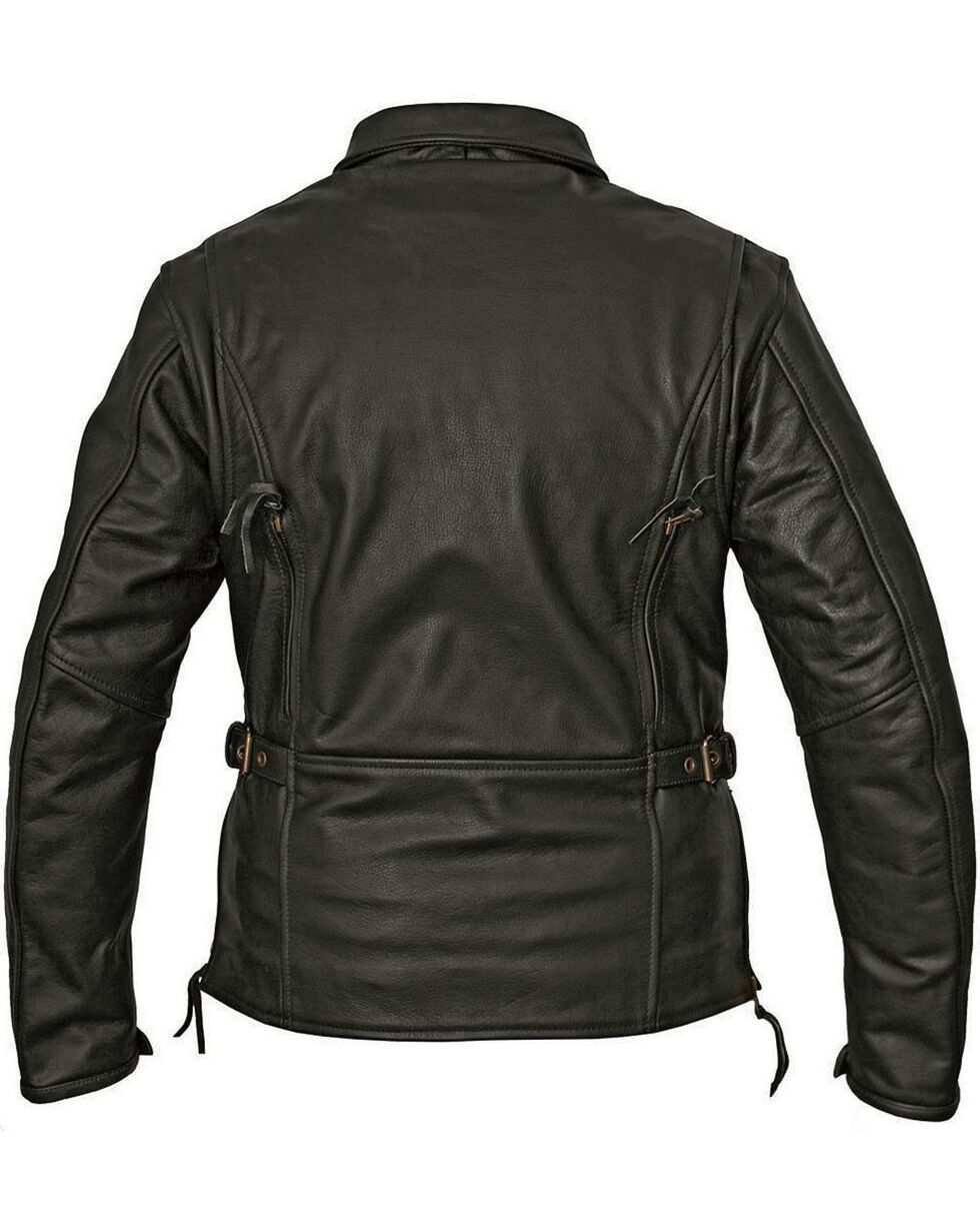 Milwaukee Women's Classic Style Motorcycle Jacket, Black, hi-res