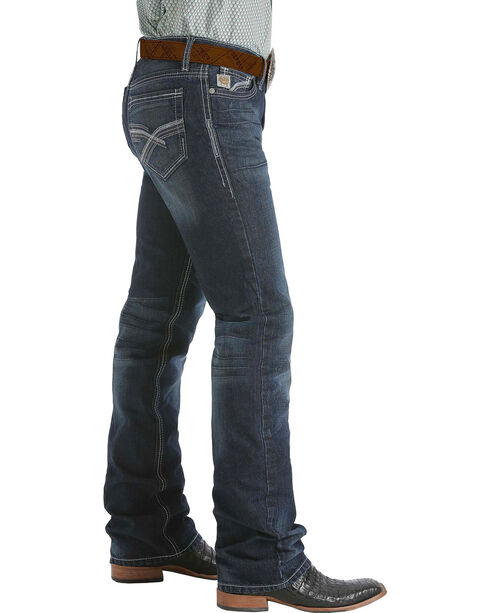 Cinch Ian Dark Stonewash Bootcut Jeans - Slim Fit , Dark Stone, hi-res