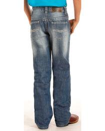 """Rock & Roll Cowboy Boys' Small """"V"""" Stitch Jeans - Boot Cut , , hi-res"""