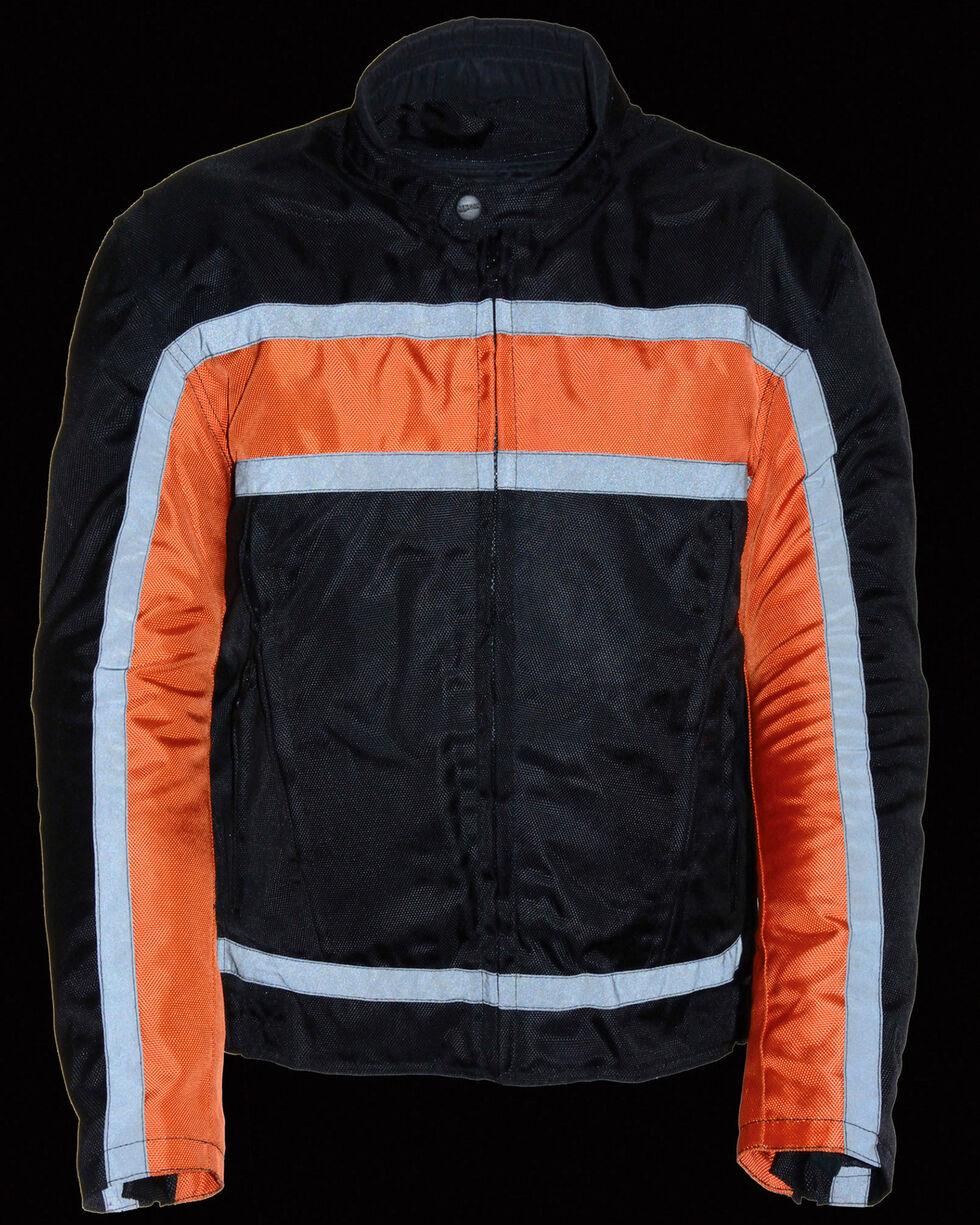 Milwaukee Leather Men's Reflective Stripe Racer Jacket - 5X, , hi-res