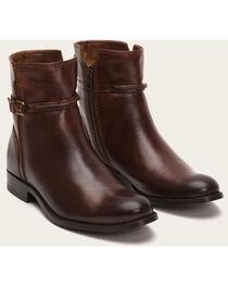 Frye Women's Brown Melissa Seam Short Boots - Round Toe , , hi-res