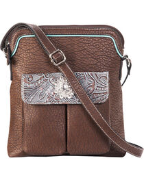 Blazin Roxx Women's Myra Crystal Messenger Handbag , , hi-res