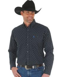 Wrangler Men's George Strait Printed Poplin Shirt , , hi-res