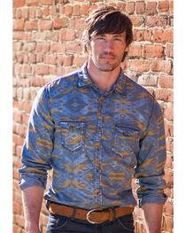 Ryan Michael Men's Aspen Geo Indigo Print Shirt , , hi-res
