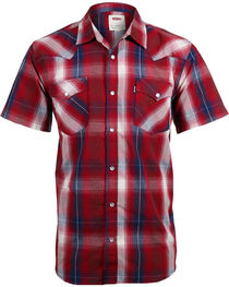 Levi's Men's Plaid Short Sleeve Western Shirt, , hi-res
