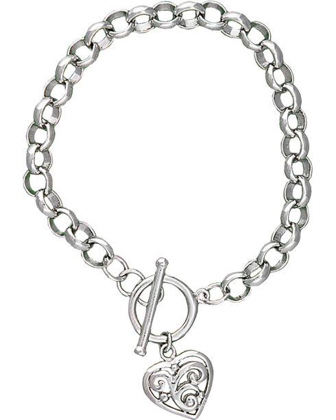 Montana Silversmiths Women's Filigree Heart Bracelet, Silver, hi-res
