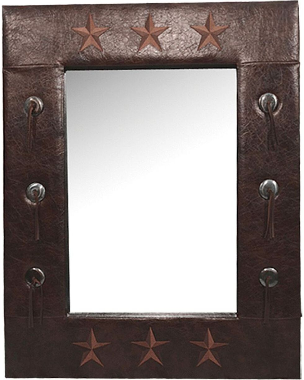 HiEnd Accents Faux Leather Star Mirror, Multi, hi-res