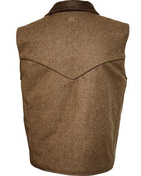 STS Ranchwear Men's Lariat Wool Vest, Brown, hi-res