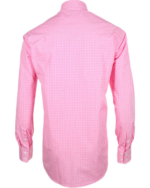 Miller Ranch Men's Plaid Long Sleeve Western Shirt, Pink, hi-res