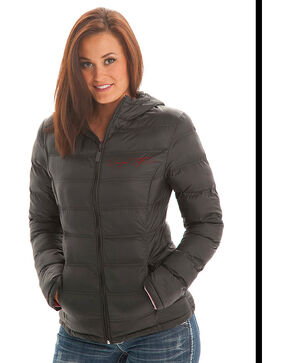 Cowgirl Tuff Women's Black Insulated Nylon Western Jacket , Black, hi-res