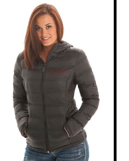 Cowgirl Tuff Women's Black Insulated Nylon Western Jacket , Black, hi-res