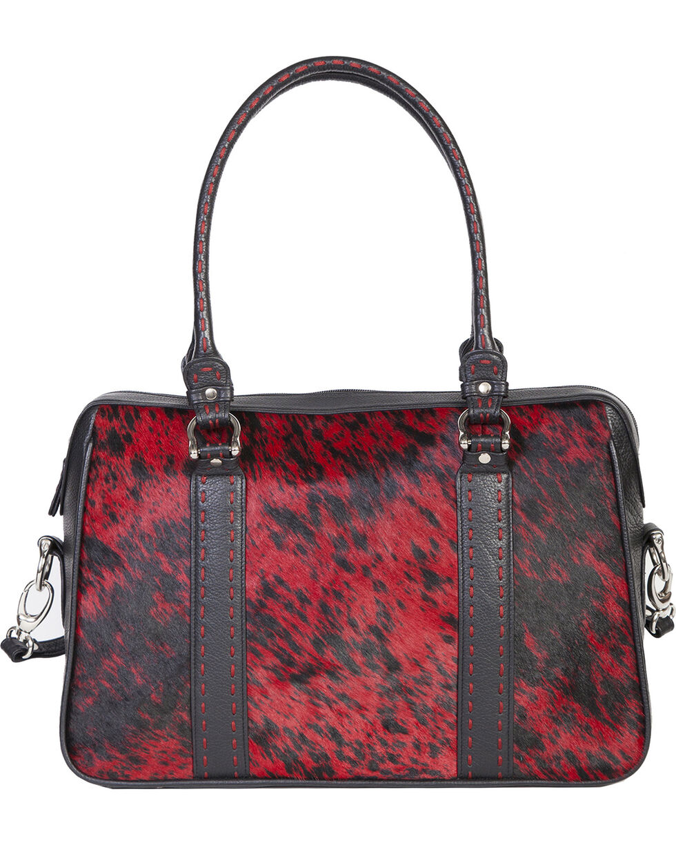 Scully Women's Hair on Calf Handbag, Red, hi-res
