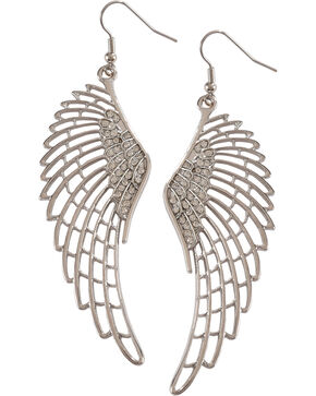 Shyanne Women's Angel Wings Earrings , Silver, hi-res