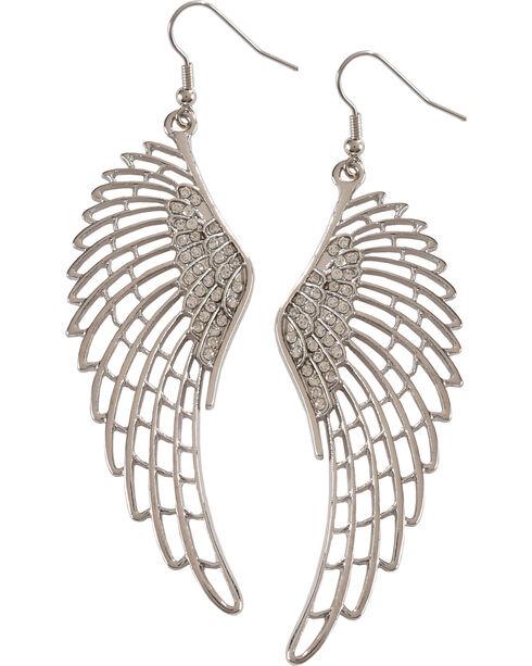 Shyanne Women's Angel Wings Earrings , Silver, hi-res