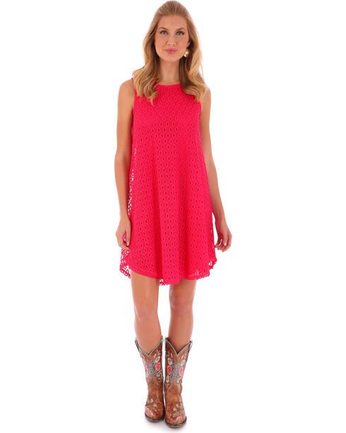 Wrangler Rock 47 Women's Sleeveless Swing Dress, Pink, hi-res