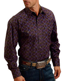 Stetson Men's Plume Patterned Long Sleeve Shirt, , hi-res