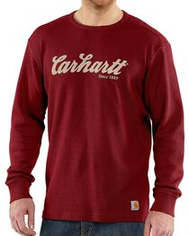 Carhartt Men's Long Sleeve Graphic Print Shirt, , hi-res