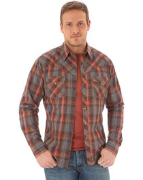 Wrangler Retro Men's Plaid Scroll Long Sleeve Shirt - Tall, , hi-res