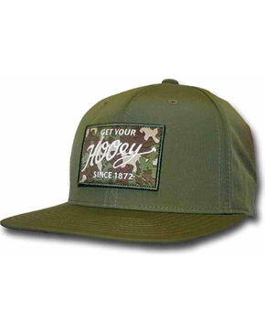 HOOey Men's Green Ripcord Adjustable Hat  , Olive, hi-res