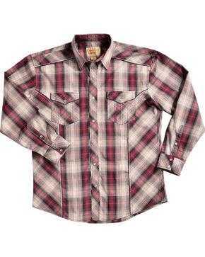 Crazy Cowboy Men's Red Plaid Shirt, Red, hi-res
