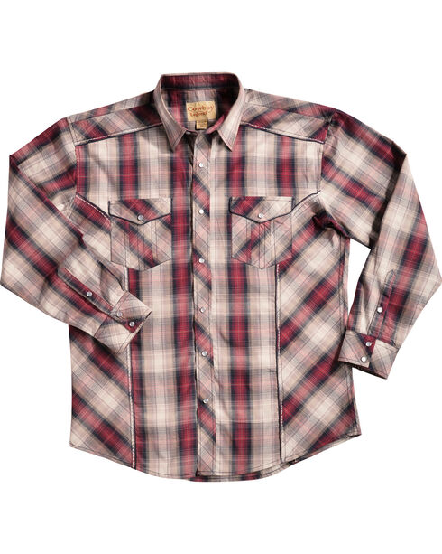Crazy Cowboy Men's Red Plaid Shirt, Red, hi-res