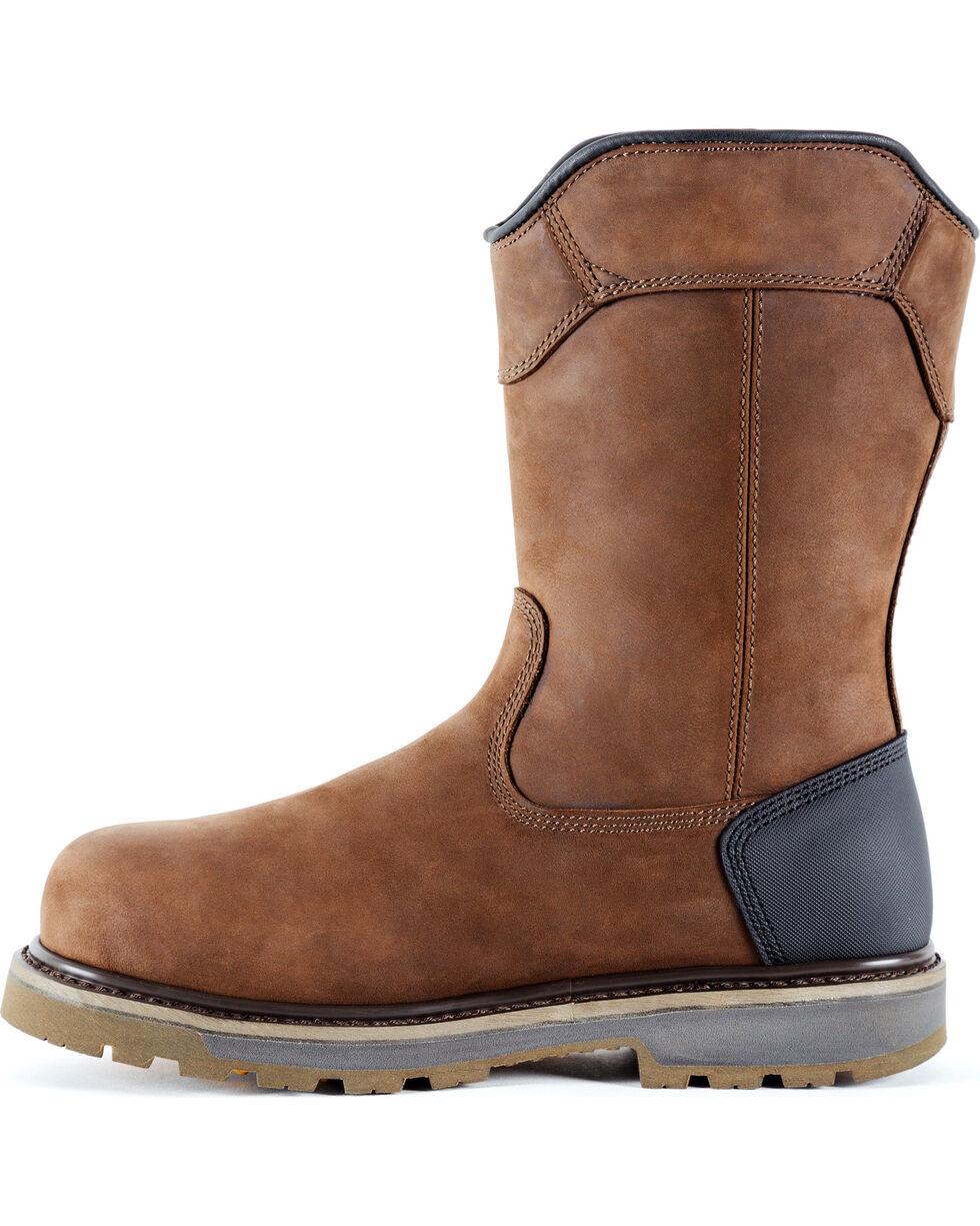 DeWalt Men's Tungsten Pull-On Waterproof Work Boots - Aluminum Toe, Brown, hi-res